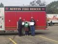 Inspector-Hansen-Autumn-Drennan-Chief-McCoy-with-Fire-Truck