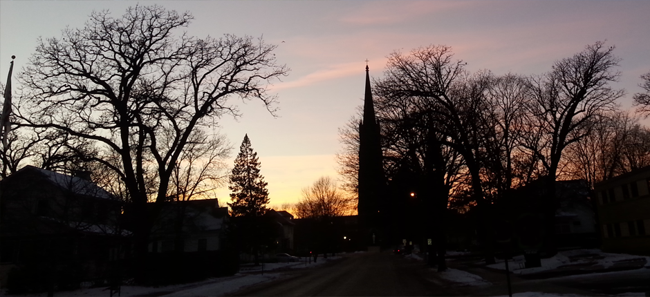 church_sunset